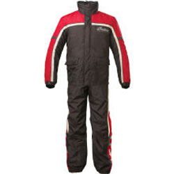 Performance and style combine with this two-piece rain suit. Waterproof and breathable coating keeps riders dry and comfortable. Front and back logos announce your brand in any weather.Shell: Jacket- 94% polyester, 6% nylon; Pant- 92% polyester, 8% nylonPo