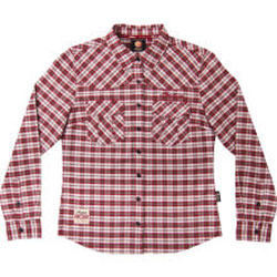 This plaid flannel shirt is extremely comfortable. Subtle Indian Motorcycle branding makes this perfect to wear anywhere.Red/White/Brown100% cotton plaidEmbroidered Indian Motorcycle logo above front left pocket and on back