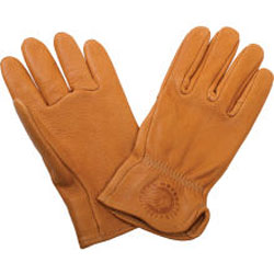 These deerskin gloves are naturally soft and supple, providing excellent dexterity. Enjoy them for years with subtle Indian branding as reminders of your choice in motorcycles.Shell: 100% deerskin leatherHeat branding on wristMade in the USA