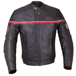 Youll turn heads in traffic in this stylish Freeway Jacket. Protective black leather sets the tone, subtle stripes, and prominent Indian Motorcycle branding enhances the high-performance style. Integrated vents and a zip-in/out liner provide multi-season