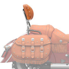 Provide your passenger with a strong, secure, comfortable backrest in just seconds by adding this Standard Height Quick Release Passenger Backrest to an Indian Chief Classic or Indian Chief Vintage motorcycle