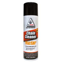 Prepares chain forre-oilingEmulsifies and removes dirt, grime and built up greaseSpray on  rinseoffSafe on all types of drive chains