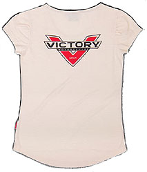Lighten up in this traditional t-shirt with a modern logo and fashionablehigh-low bottom cut.FABRIC: 100% cotton slub jersey; 170 gsm; 5.0 oz./yard; softener washGRAPHICS: Water-based print of Victory logo on front and back