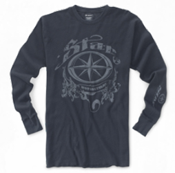 Made from a 50/50 poly/ring spun and combed cotton blended fabric, this long sleeve thermal shirt has rib sleeve cuffs, overlock-stitchedbottom hem and a one-color screenprinted Star graphic on the front.