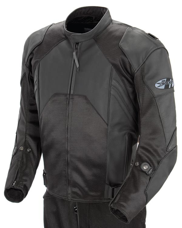 Combined 1.2mm cowhide, textile, Free Air mesh outerC.E. approved armor at the shoulders & elbowsRemovable spine pad with pocket for optional C.E. spine armorRemovable, windproof & breathable hybrid comfort linerInjection molded shoulder intake vents