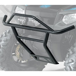 Strong, tough and protectiveProtects front end of vehicle from impactStyling and finish complement vehicles sporty lookEasy bolt-on installationFits RZR 170 MY 09-14