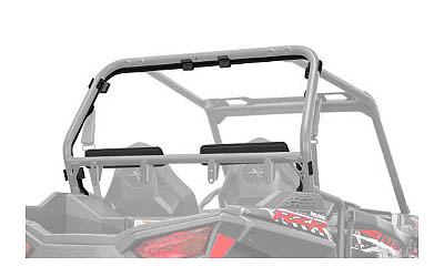 Provides outstanding combination of protection, rearward visibility, and dust-blocking when the RZR is equipped with a windshield (sold separately)Rear panel installs quickly and easily  no tools required  using Polaris-exclusive Lock & Ride technol