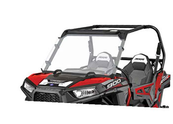 Full-size poly windshield installs easily and provides riders with full front protectionEnsures rider enjoys comfort and great visibility in all riding conditions.177 polycarbonate construction with hard coat on both sides that is impact, shatter and s