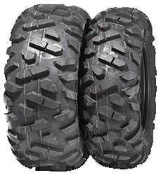 The tread pattern and wide footprint give this 6-ply radial outstanding traction and its shoulder lugs help protect the sidewalls.