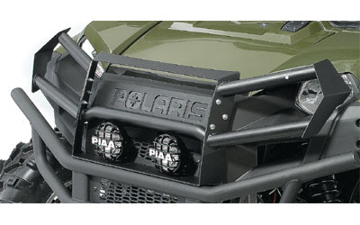 Durable tube steel and plate constructionProvides protection to front bodywork and headlightsIntegrates into the stock front bumper for seamless stylingDurable black wrinkle powder coat finish for maximum corrosion and scratch resistanceMounting po