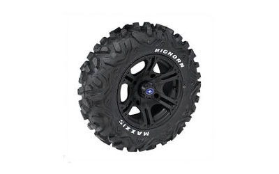Rev up the style and enjoy premium performance from your RANGER with these 14 Flat Black SIXr Rims & 26 Maxxis Big Horn Tires. The custom wheels feature sport-performance styling and they are engineered to deliver the same strong, rugged performance an