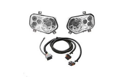 Upgrade stock headlights to more-powerful LEDsEasy-to-install, integrated way to increase lightingLED Headlights High and Low settings: 875/660 lumens per lightKit includes both left and right lightFITMENT:   XP 800, HDMY 09-13,6X6MY 10-13,500