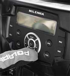 Create your personal soundtrack for your ride with this Dash-Mounted Audio Kit. It installs easily and securely, has a powerful amp and plays music from a variety of audio sourcesIntegrated, automotive-style mounting of head unit and speaker pods into dash