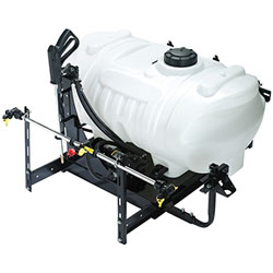 This sprayer mounts in the rear cargo box using a special mounting bracket that makes installation easy. The sprayer slides into the cargo box and locks securely into place using Lock & Ride mounting hardware. Enjoy outstanding maneuverability as you ride
