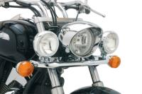 FITS HONDA VT750 AERO 2001-2009These Cobra Lightbars With Spotlights not only provide added visibility for safety, but also offer quality and style to the look of your ride. Spotlights come pre-installed on lightbar - Just install your stack turn signa