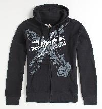 Fox Red Bull X-Fighters Exposed Zip Front Fleece #45433-001 BRAND-NEW, UNUSED AND UNWORN WITH ORIGINAL TAGS, GREAT FOR EVERYDAY WEAR, RETAIL PRICE $79.50, OUR LOW PRICE $34.99!!! Red Bull X Fighters logo design centered in front. Zip front with hood and