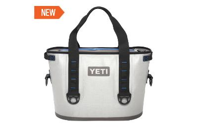 The YETI Hopper 20 is a personal, portable, anything but soft-sided cooler. Easily transport at least 12 icy cans to the links, the lake or your next tailgate using the sturdy handles or carrying strap. Unlike other soft-sided coolers, its puncture-resis