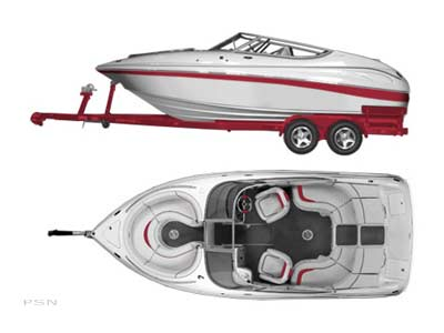 Beauty, power and performance define the 2200 Bow Rider. As you can see, the center walk-thru transom makes boarding and moving about much more convenient. Aft filler cushions are standard and provide a large sun deck.