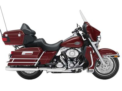 Harley-Davidson Ultra Classic� Electra Glide�  2009  C$18,769  Red Hot Sunglo RUBBER MOUNTED 96 CU IN TWIN CAM, FUEL INJECTION, 6 SPEED. CRUISE CONTROL & SECURITY SYSTEM.