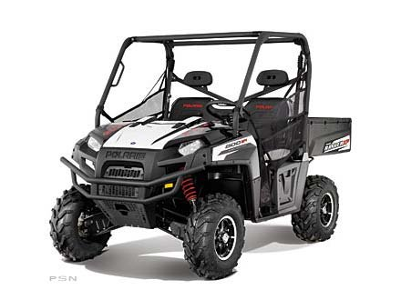2012 Polaris Ranger XP 800 EPS Black / White Lightning LE