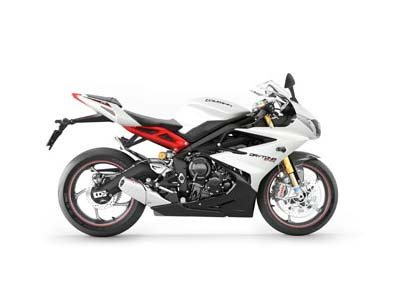 2013 Triumph Daytona 675R - Crystal White / Phantom Black