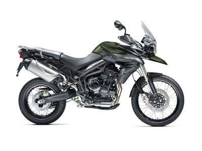2013 Tiger 800 XC ABS - Matte Khaki Green