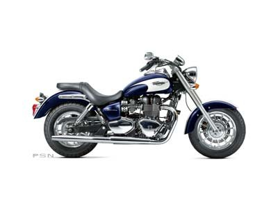 2013 Triumph America - Sapphire Blue / Crystal White