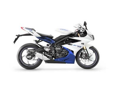 2013 Triumph Daytona 675 - Crystal White / Sapphire Blue