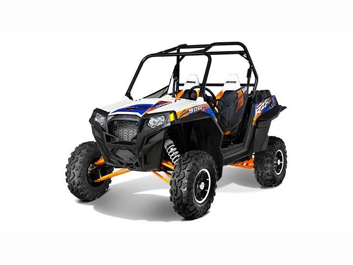 2013 Polaris Ranger RZR XP 900 EPS LE (White / Orange / Blue)