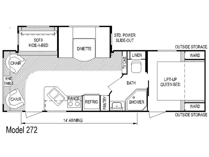 Rear Living Room - Loaded C/W Fireplace, Free Standing Table, Night Shades, Electric Awning W/LED Light Etc.