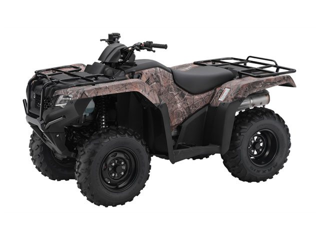 Honda TRX420FM  2014  C$7,499  Phantom Camo� **2014 NEW - SAVE $700. - fuel injection, AUTO CLUTCH, LIQUID COOLED,5-speed, foot-shift, manual with reverse, 4X4