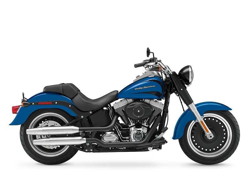 Harley-Davidson Fat Boy� Lo  2014  C$24,183  Daytona Blue Pearl * 2014 NEW - 103 CU IN TWIN CAM FUEL INJECTED, 5 GALLON TANK, LOW SEAT, BULLET HOLE BLACK MACHINED RIMES, STANDARD ANTI LOCK