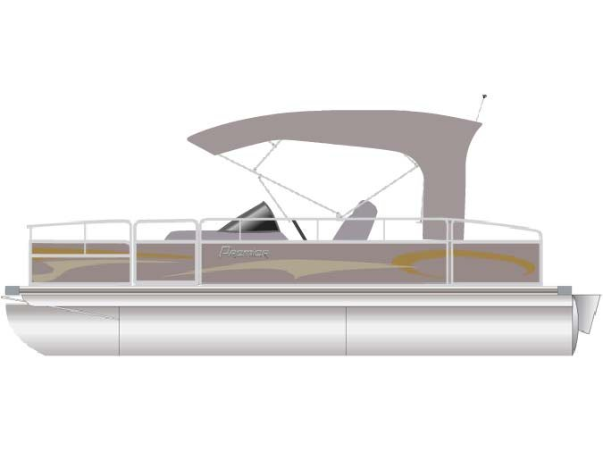 Designed as a plush cruiser for 3/4 of the boat...deluxe fishing maching for the back 1/4. The best of both worlds!