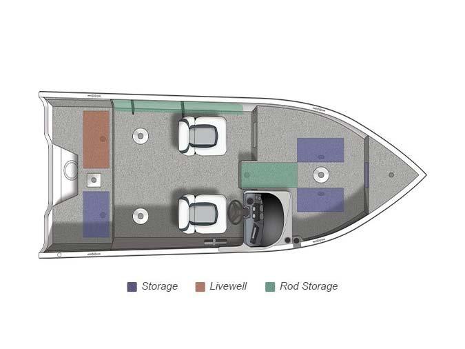 2014 Crestliner 1650 Fish Hawk SC