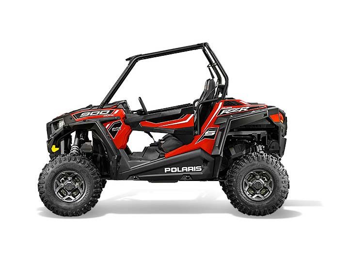 2015 Polaris RZR S 900 EPS - Havasu Red Pearl
