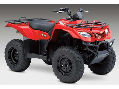 Suzuki KingQuad 400FSi  2015  C$6,983  Flame Red **2015 NEW - 4x4, fuel-injected 376 cc four-valve engine matched to a functional semiautomatic five-speed