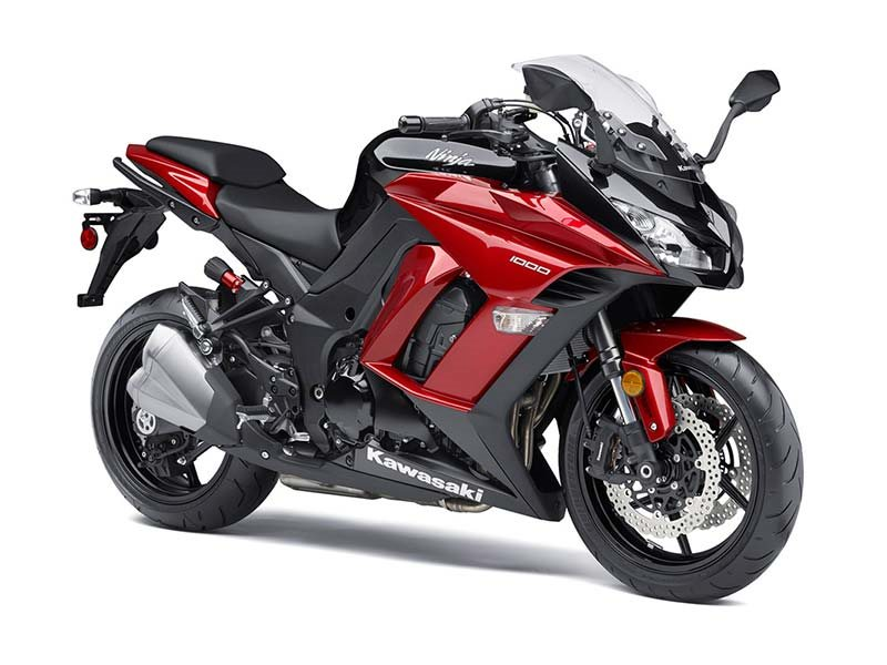2016 Ninja 1000 ABS Candy Fire Red / Metallic Spark Bla