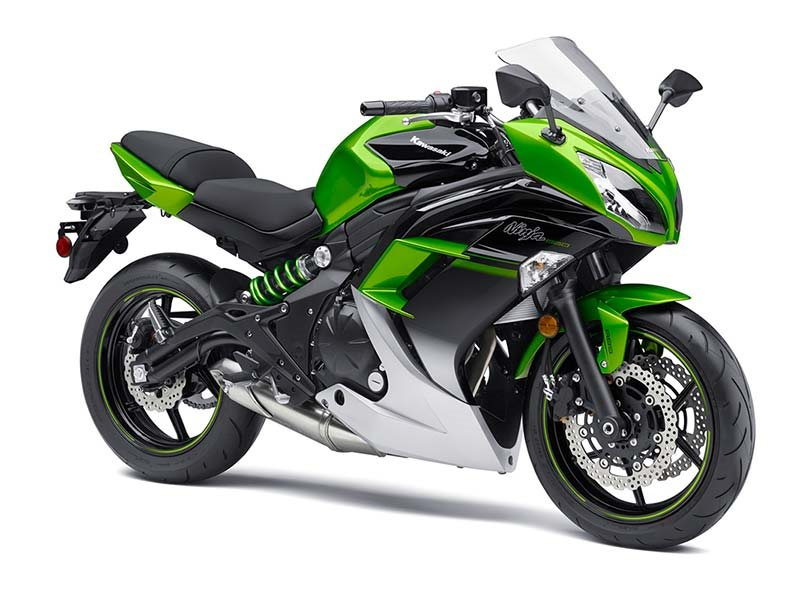 2016 Ninja 650 ABS Candy Lime Green / Metallic Spark Bl