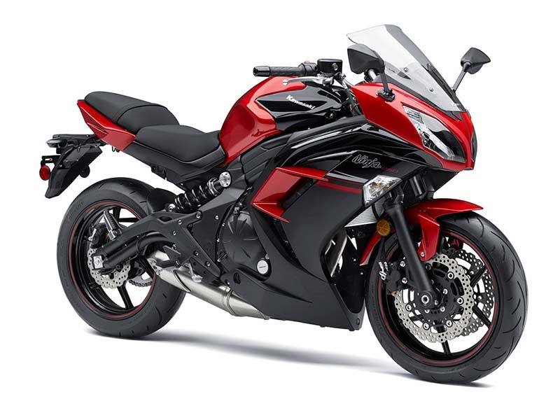 2016 Ninja 650 ABS Candy Persimmon Red / Metallic Spark