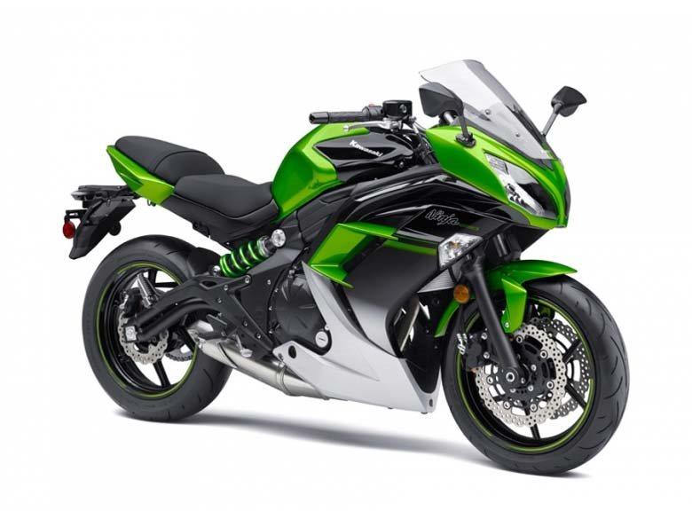 2016 Ninja 650 ABS Candy Lime Green / Metallic Spark Bl